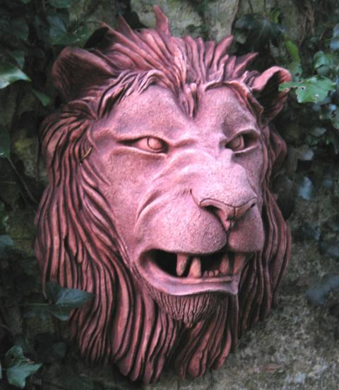 lion head on wall