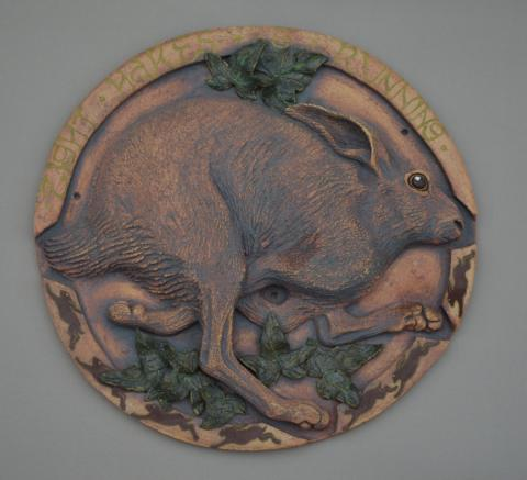 a running hare relief