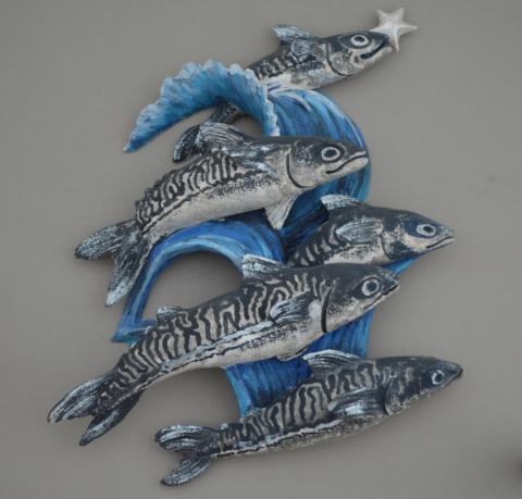 leaping blue mackerel