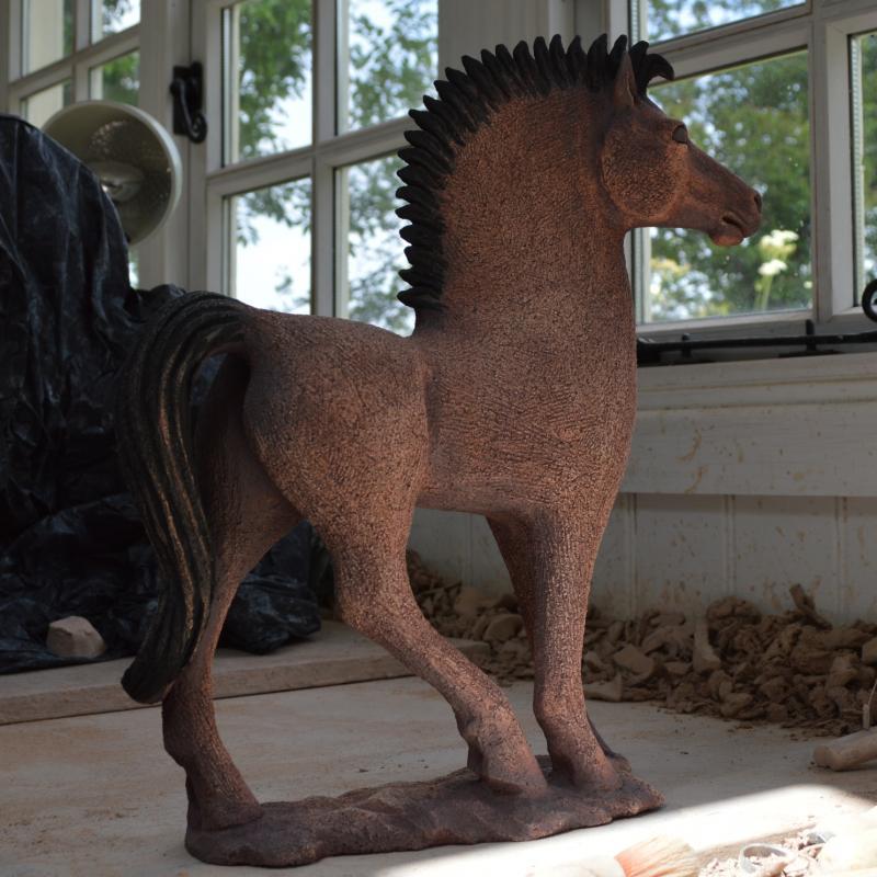 a bay mare