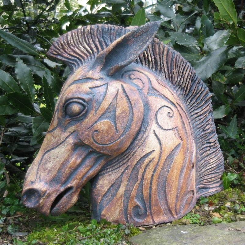 a decorated horse