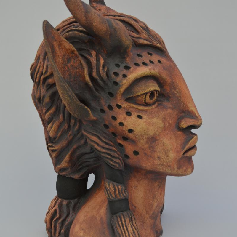 a faun head