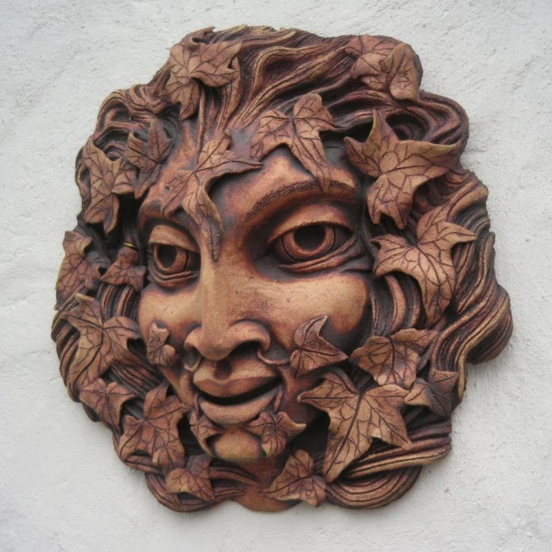 green man on wall