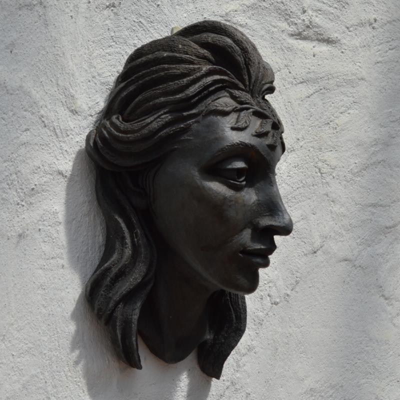 persephone bronze head